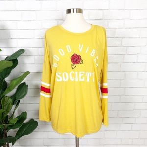 Mighty Fine Good Vibes Society L/S Graphic Tee M